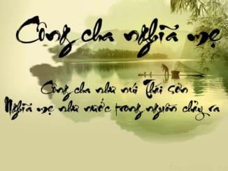 cam-nghi-ve-bai-ca-dao-cong-cha-nhu-nui-thai-son